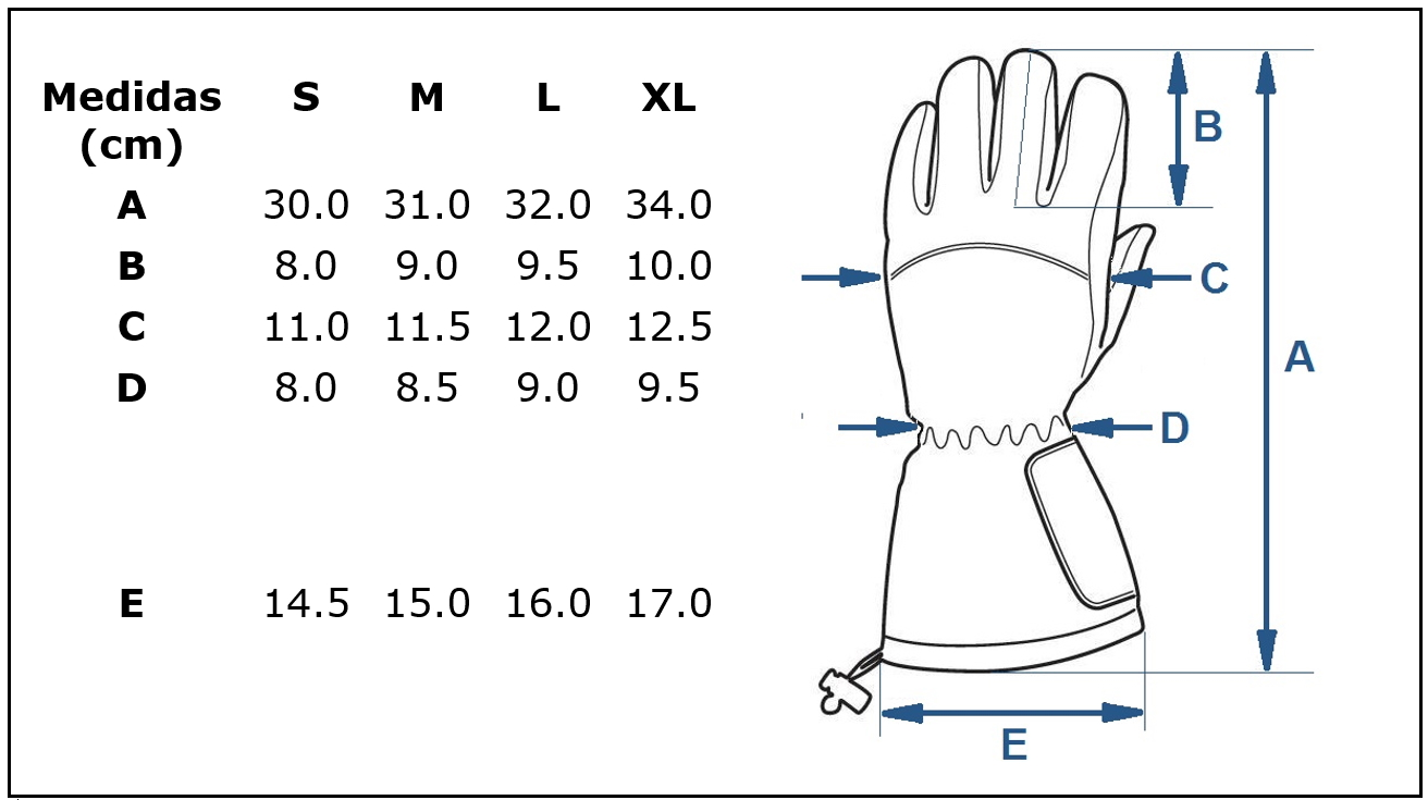 Lithium battery powered heated gloves